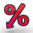 Stock Photo: Red Percent