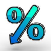 Blue Percent — Stock Photo