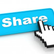Share Button — Stock Photo #9132592