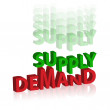 Demand supply — 图库照片