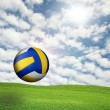 Stock Photo: Volleyball in sky