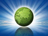 Green globe — Stock Photo