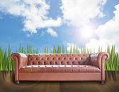 Vintage sofa — Stock Photo