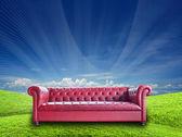 Vintage sofa — Stockfoto