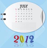 Calendário de 2012 — Vetor de Stock