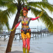 Samui body painting — Stock Photo #8200781