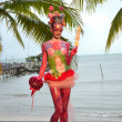 Samui body painting — Stock Photo #8201056