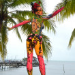samui body painting — Stock Photo