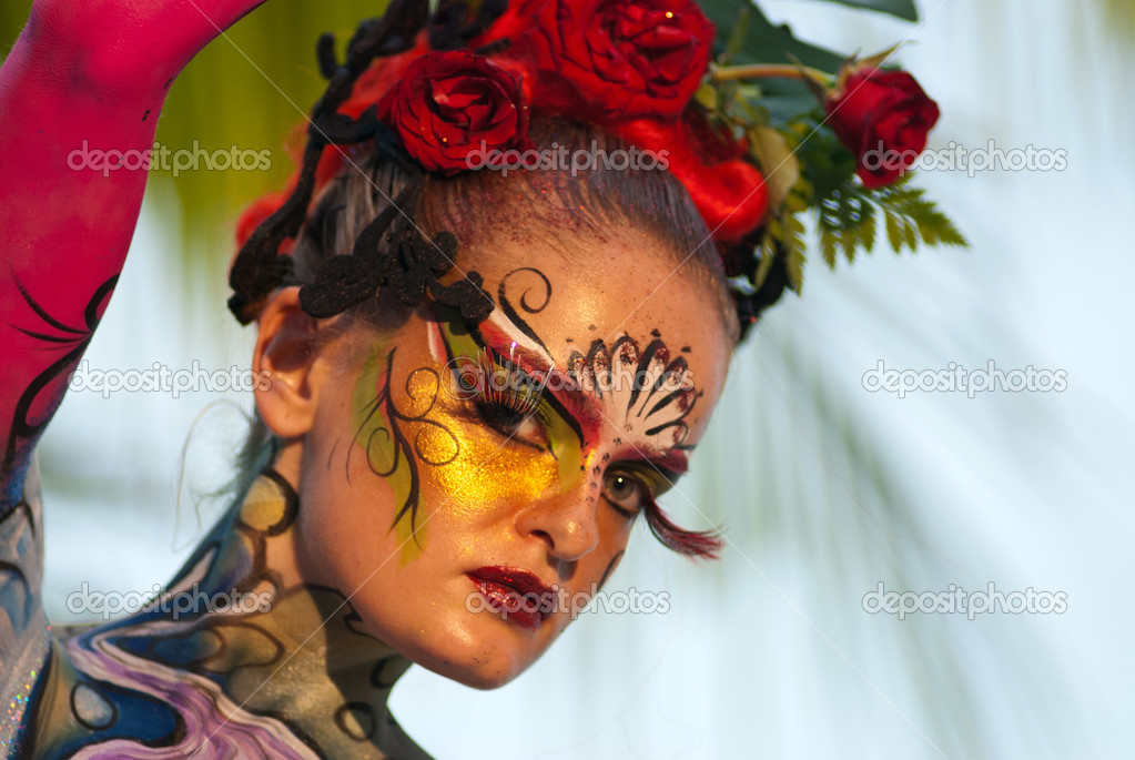 Samui Thailand international body painting competition 2011 — Stock Photo #8202369
