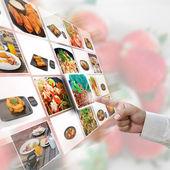 食物选择 — 图库照片