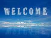 Welcome — Stockfoto