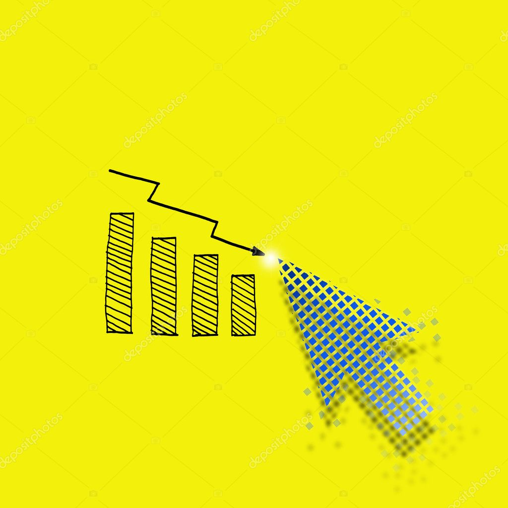 Business concept by arrow sign selcetion with yellow background. — Stock Photo #9404160