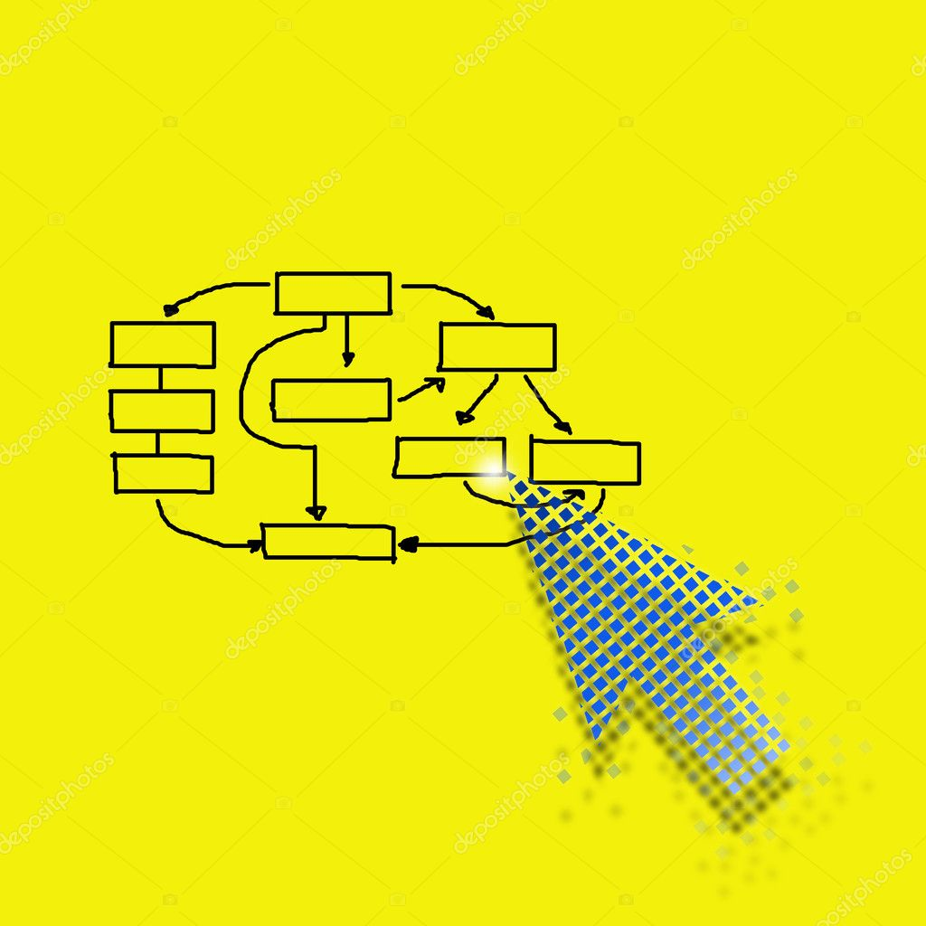 Business concept by arrow sign selcetion with yellow background. — Stock Photo #9404178