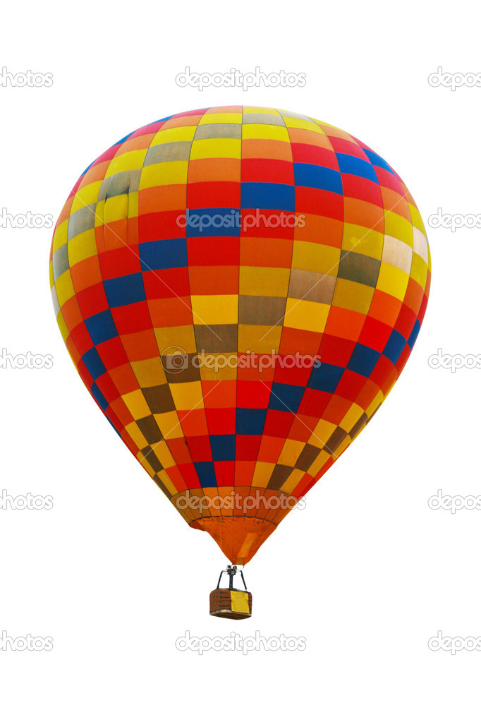 Hot air balloon on white background. — Stock Photo #9501552