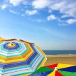 colorful sunshades — Stock Photo