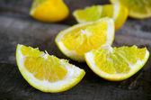 Lemon quarters — Stock Photo