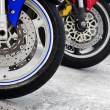 Motorcycle Wheels — Stock Photo