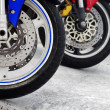 Motorcycle Wheels - Stock Photo