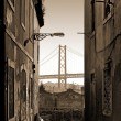 Alley and Bridge — Stock Photo