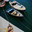 Four docked boats — Stock Photo