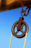 Rolo e corda — Foto Stock