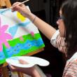 Child Painter — Stock Photo