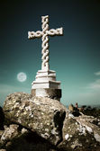 Cross in moonlight — Stock Photo