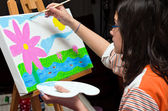 Child Painter — Stock Photo