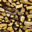 Stock Photo: Piled firewood
