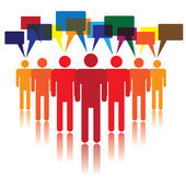 Social media concept of communicating — Stock Vector
