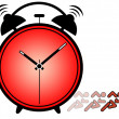 Stock Photo: Concept of importance of time showing ringing alarm clock