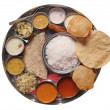 Постер, плакат: Traditional indian lunch food and meals