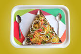 Indian chaat snack masala or sev puri — Stock Photo