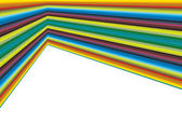 Colorful lines with three dimensional feel — Stockvector