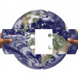 Concept of solving earth's problems — Stock Photo
