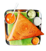 South indian breakfast dosa in golden brown color — Stock Photo