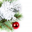 Stock Photo: Christmas background with red ball