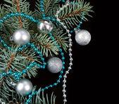 黑色圣诞节背景 — 图库照片