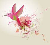 Red abstract bird — Stock Vector