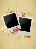 Photo frame on a grunge background — 图库矢量图片