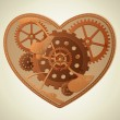Stock Vector: Steampunk heart