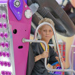 Boy on fairground — Stock Photo