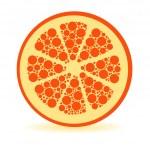 Dots orange — Stock Vector