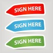 Sign here — Stock Vector