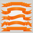 Set of orange ribbons — Stock Vector #10226905