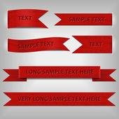 набор красные ленточки — Cтоковый вектор