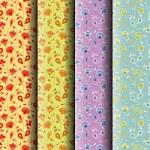 Flower seamless patterns — Stock Vector