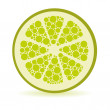Dots lime — Stock Vector #10429403
