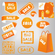 Sale labels — Stock Vector #10429430