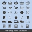 Stock Vector: E-shop icons